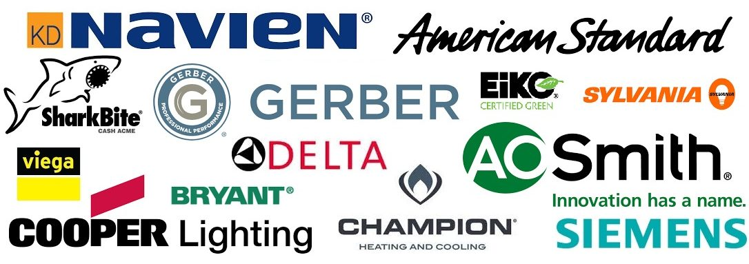 our brands: american standard, gerber, aosmith, champion, siemens, delta faucets